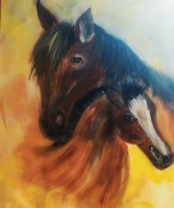 תמונה של סוסים לבית